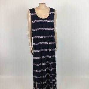 Lands End Women's Maxi Dress XL 18 Navy E3-13